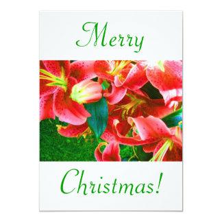Lirios del navidad V Invitación 12,7 X 17,8 Cm
