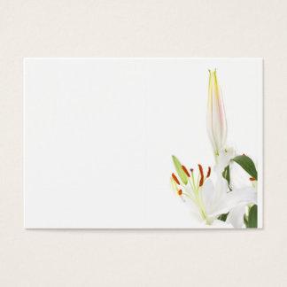 Lirios en blanco tarjeta de negocios