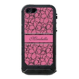 Lirios rosados enormes con el esquema negro, carcasa de iphone 5 incipio atlas id