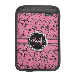 Lirios rosados enormes con el esquema negro, funda para iPad mini