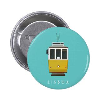 Lisbon Pin Chapa Redonda De 5 Cm
