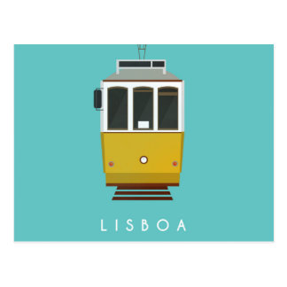 Lisbon Postcard Tram Postal