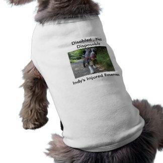 Lisiado, no disponible camiseta sin mangas para perro