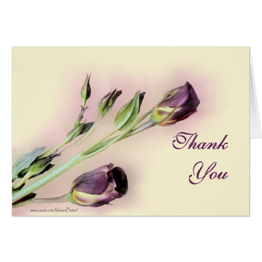 Lisianthus le agradece tarjeta en blanco