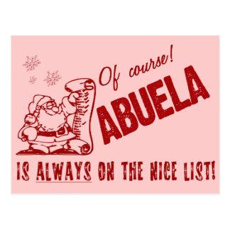 Lista agradable Abuela Tarjeta Postal