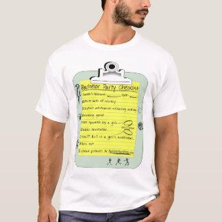 Lista de control de la despedida de soltero camiseta