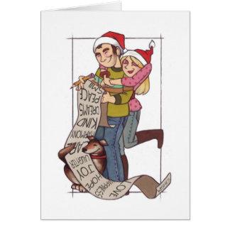 Lista de objetivos Notecard del navidad de los Tarjeta Pequeña