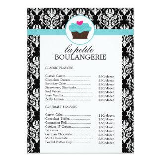 Lista de precios de la panadería bonita del invitación 13,9 x 19,0 cm