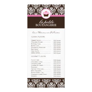 Lista de precios de la panadería tarjetas publicitarias