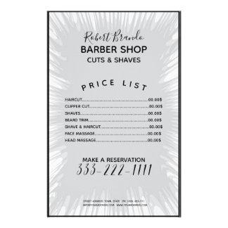 Lista de precios del chapoteo del peluquero gris