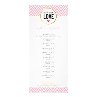 LISTA DE PRECIOS hecha con el galón rosado moderno Lonas Personalizadas