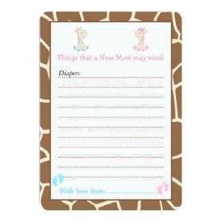 Lista del consejo de la jirafa para la nueva invitación 12,7 x 17,8 cm