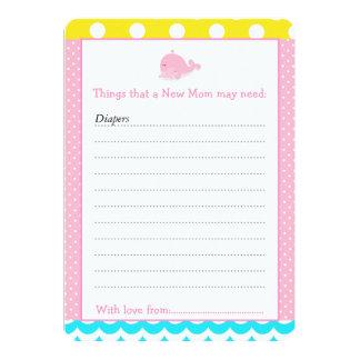 Lista del consejo del muchacho del chica del rosa invitación 12,7 x 17,8 cm