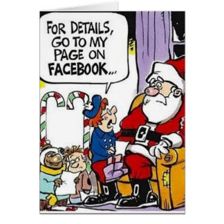 Lista del navidad de Facebook Tarjeta