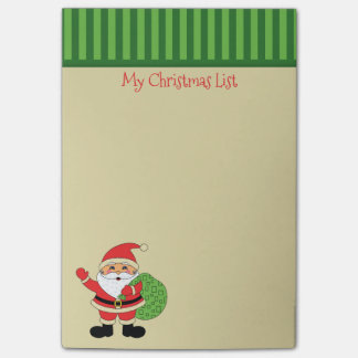 Lista del navidad de Papá Noel Notas Post-it®