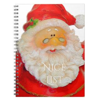 Lista del navidad del padre de Papá Noel Niza Libreta