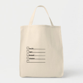Lista del ultramarinos bolsa tela para la compra