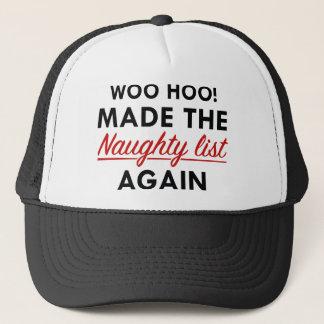 Lista traviesa gorra de camionero