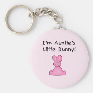 Little Bunny T-shirts y regalos de tía rosada Llavero Redondo Tipo Chapa