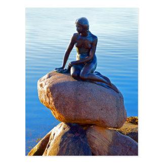 Little mermaid en Copenhague, Dinamarca Tarjeta Postal