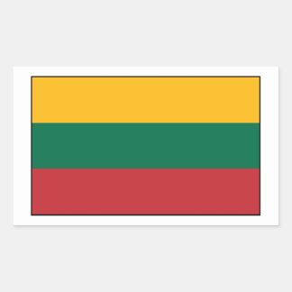 Lituania - bandera lituana rectangular pegatinas
