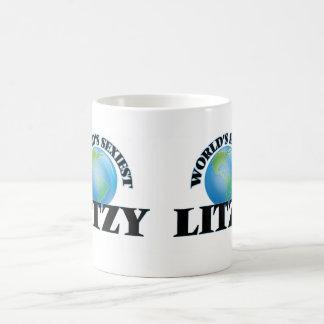 Litzy más atractivo del mundo taza básica blanca