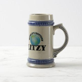 Litzy más caliente del mundo jarra de cerveza
