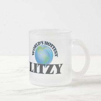 Litzy más caliente del mundo taza cristal mate