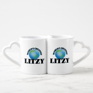 Litzy más grande del mundo taza para enamorados