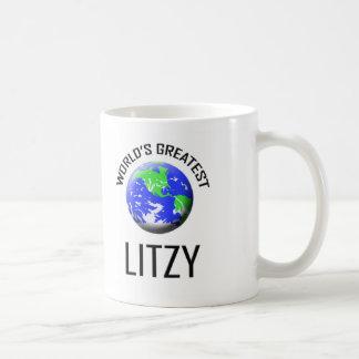 Litzy más grande del mundo taza básica blanca