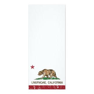 livermore de la bandera de California apenado Invitacion Personal
