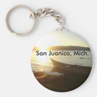 Llabero de San Juanico, Mich. Llavero Redondo Tipo Chapa