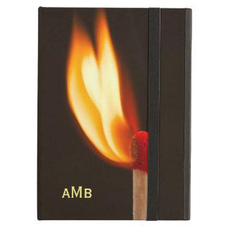Llama anaranjada y amarilla del fuego funda para iPad air