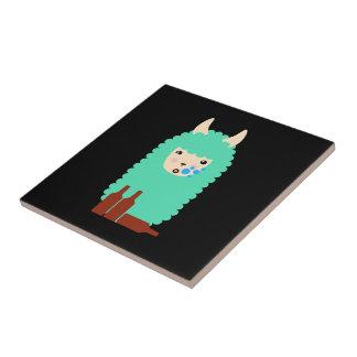 Llama borracha de Emoji Azulejo De Cerámica