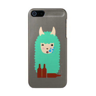 Llama borracha Emoji Funda Para iPhone 5 Incipio Feather Shine