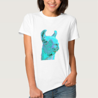 Llama crepuscular, llama de la turquesa, cabeza de camiseta