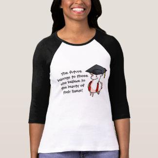 Llama de la graduación camisetas