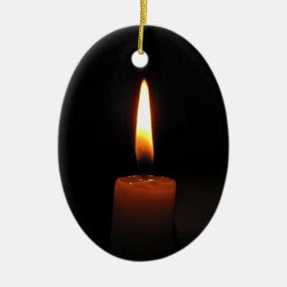 Llama de vela adorno ovalado de cerámica