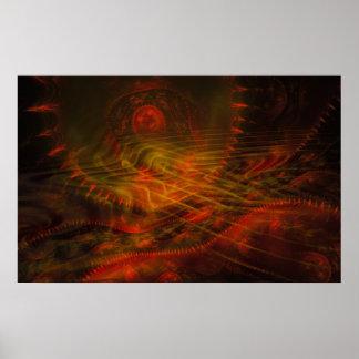 Llama del fractal del colector del alma poster