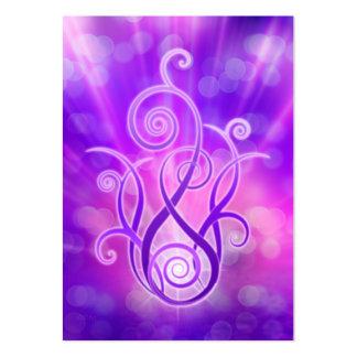 Llama violeta/fuego violeta tarjetas de visita grandes