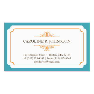 Llamada personal de la tolerancia del marco sólido tarjetas de visita