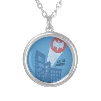 Llamando a Batman gráfico del símbolo del palo Colgante Redondo
