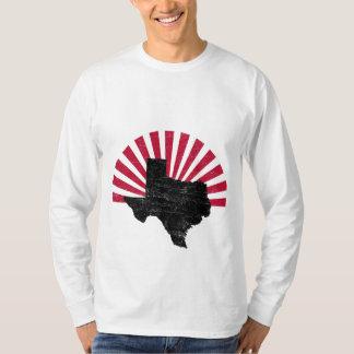 Llamarada de Tejas del vintage envuelta de largo Camisetas