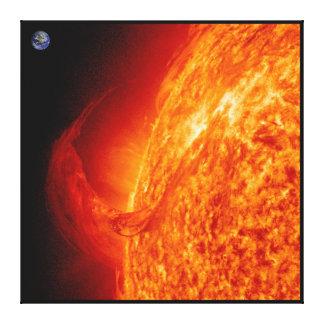 Llamarada solar Sun y lona de la foto de la astron Impresión En Lona Estirada