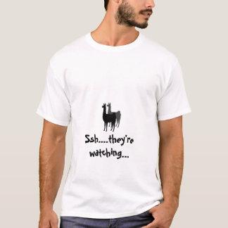 LLAMAS_logo, Ssh….están mirando… Camiseta