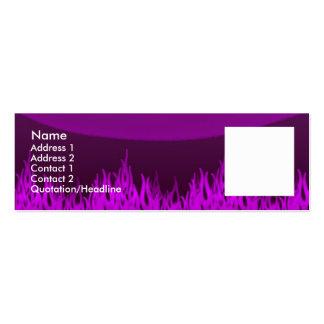 Llamas violetas tarjetas de visita mini
