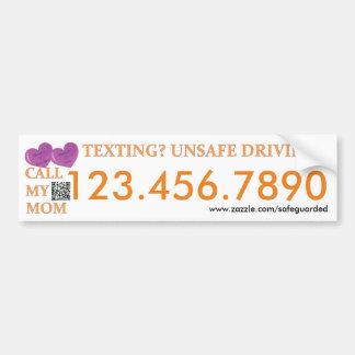 Llame a mi mamá - parachoque de la salvación de pegatina para coche