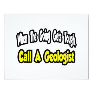 Llame a un geólogo invitación 10,8 x 13,9 cm