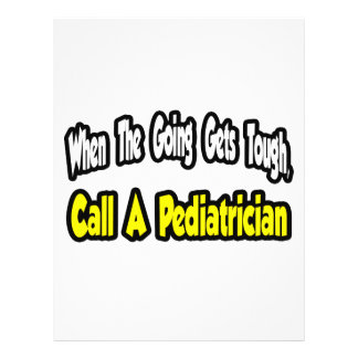 Llame a un pediatra tarjeton