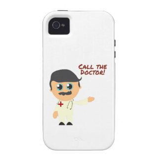 Llame al doctor Case-Mate iPhone 4 fundas